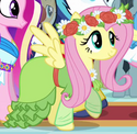 Fluttershy coronation dress ID S3E13