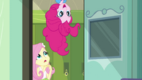 Fluttershy e Pinkie Pie entrando EG