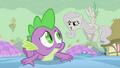 Fluttershy mocking Spike S2E02.png