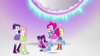 Main six happy to see Sunset Shimmer EGS3