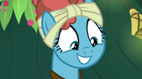 Meadowbrook with a pleased grin S7E20