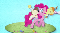Pinkie Pie having fun with Pound and Pumpkin BFHHS2