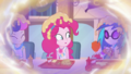 Pinkie sees Sweetie and DJ covered in apple sauce EGDS5.png