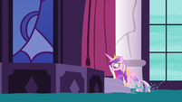 Princess Cadance climbs onto summit stage S5E10