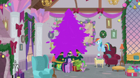 Purple goo covers Hearth's Warming tree S8E16