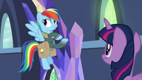 Rainbow Dash listing off Equestria locations S6E24
