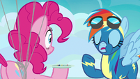 "Rainbow Dash mouthful ""guess it was nothing"" S7E23"