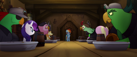Rainbow standing at the end of the table MLPTM