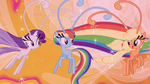 Rarity, Rainbow, and AJ as Breezies S4E16