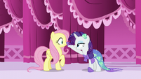 Rarity boops Fluttershy's nose S5E21
