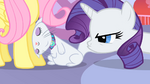 Rarity pouts angrily at Opal S01E17