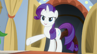 Rarity reveals herself to Flim and Flam S8E16