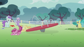 Ruby Pinch and Noi fall out of the merry-go-round S5E18.png