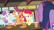 Scootaloo posing with Sweetie S4E15