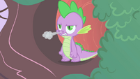 Spike blowing out steam S1E24