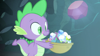 Spike licking his lips S6E5