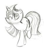 Star Gazing Twilight Sketch