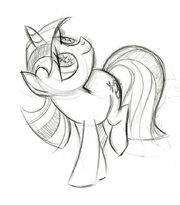Star Gazing Twilight Sketch