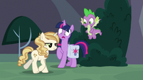Sweet Biscuit crosses in front of Twilight S9E5