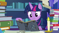 Twilight -there's parts where his hornwriting- S7E25