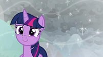 Twilight Sparkle smiling with hope S9E25