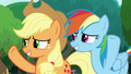 AJ and Rainbow wave goodbye to Twilight S8E9.png