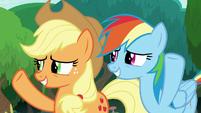 AJ and Rainbow wave goodbye to Twilight S8E9