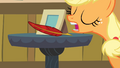 Applejack about to grab the quill S4E09.png