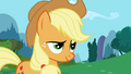 Applejack cocked eyebrow S1E4.png