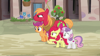 Big Mac and Apple Bloom don't like Feather Bangs S7E8