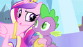 Cadance with hoof around Spike S4E24.png