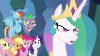 "Celestia ""hold them off as long as we can!"" S9E25"