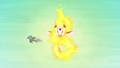 Daybreaker surrounded in a spiral of flames S7E10.png