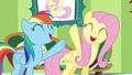 Fluttershy and Rainbow singing together S6E11.png