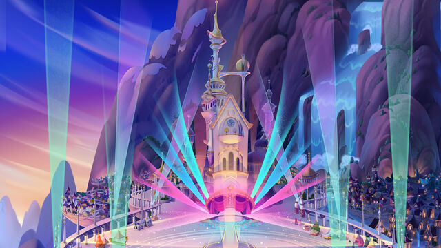 File:MLP The Movie background art - Friendship Festival in lights.jpg