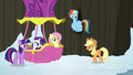 Main ponies return to the Twinkling Balloon S7E11.png