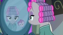 Pinkie Pie frowning in the mirror S7E4