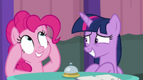 Pinkie Pie thinking of other fruit S9E16