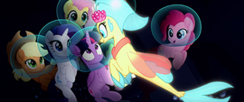 Princess Skystar excitedly gets in Twilight's face MLPTM