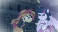 Princess Twilight helping Sunset Shimmer EGFF