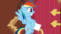Rainbow Dash about to be Fluttercharged S2E21