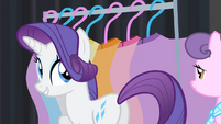 Rarity 'Yes, yes. Well, good luck!' S4E08