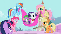 Rarity and Spike safe and sound S02E10