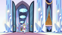 Shining Armor and guards burst into throne room S9E1