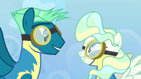 Sky Stinger and Vapor Trail smile at each other S6E24