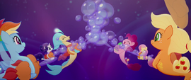 Skystar and her friends making bubbles MLPTM