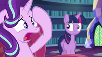 Starlight --baking a cake with Pinkie Pie freaks me out!-- S6E21