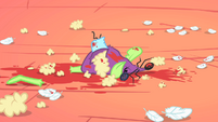 Stuffed field mouse ripped apart S1E24