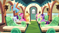 The Mane six in train S3E12