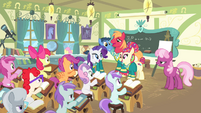 The Ponytones singing in the classroom S4E14